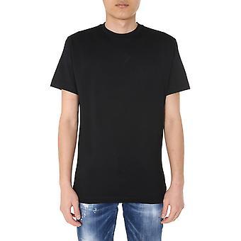 Dsquared2 S74gd0747s22844900 Män's Black Cotton T-shirt