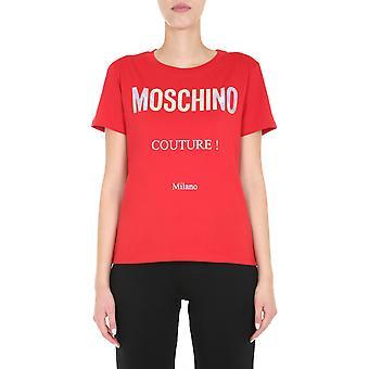 Moschino 070355401115 Women's Red Cotton T-shirt