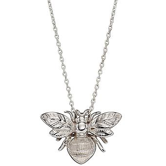 Elements Gold Bee Pendant - White Gold
