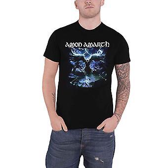 Amon Amarth T Shirt Ravens Flight Band Logo new Official Mens Black