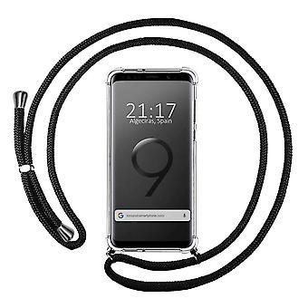 FONU Siliconen Anti-Shock Backcase Hoesje Met Koord Samsung Galaxy S9