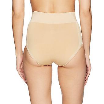 Arabella Women's Shine ve Mat Dikişsiz Yüksek Bel Şekil Giyim Brief, Kum, L...