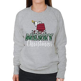 Erdnüsse Snoopy & Woodstock Frohe Weihnachten Frauen's Sweatshirt