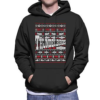 Thunderbirds IR Classic Christmas Knit Design Män & apos; s Hooded Sweatshirt