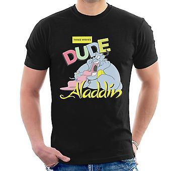 Disney klassisk Aladdin Genie tre ønsker dude menn ' s T-skjorte
