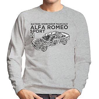 Haynes proprietários Workshop Manual 0292 Alfa Romeo Sport moletom preto MASC