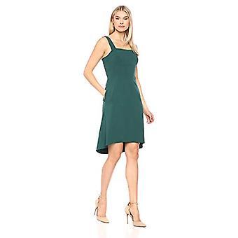 Marke - Lark & Ro Women's Ärmellose quadratische Hals A-Linie Kleid mit Taschen, Smaragd, 6
