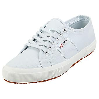 Superga 2750 Cotu Classic Mens Casual Trainers in Light Blue