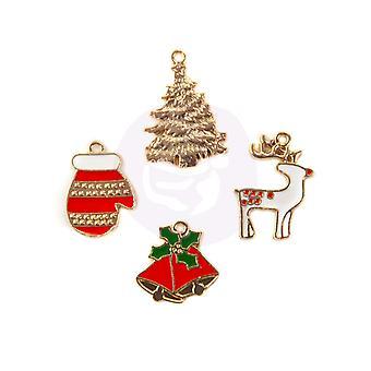 Prima Marknadsföring jul i landet Emalj Charms