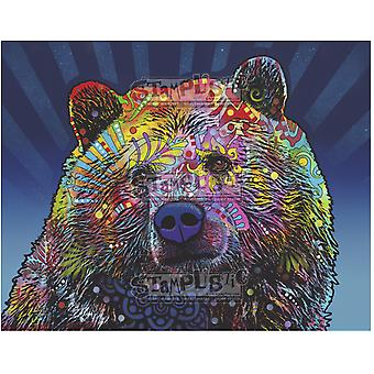 Stamplistic Grizz Cling Stamp