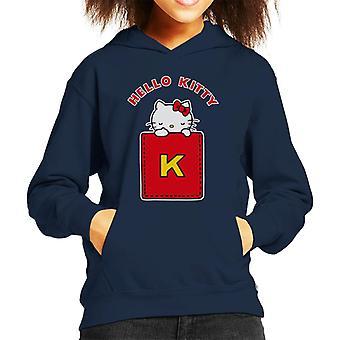 Hallo Kitty gelb K Kid's Kapuzen Sweatshirt