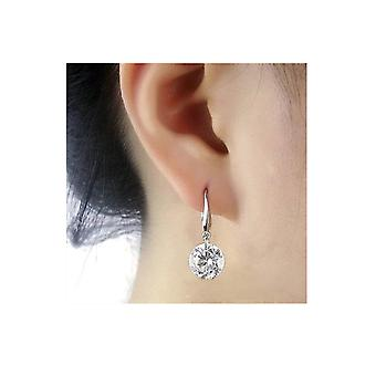 Swarovski Crystal Drop Earrings - Sterling Silver