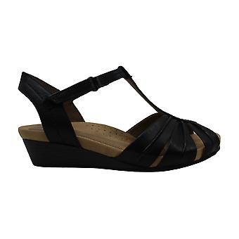 Cobb Hill Women's Shoes Leather Peep Toe Casual T-Strap Sandals