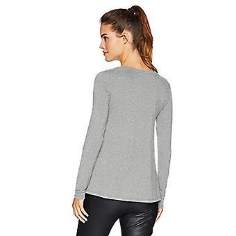 Brand - Daily Ritual Women's Jersey Long-Sleeve Scoop-Neck Swing Shirt, Light Heather Grey, X-Small