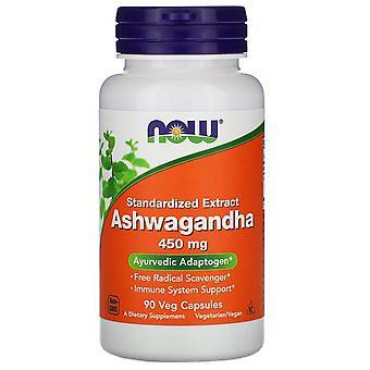 Nu voedingsmiddelen, Ashwagandha, Gestandaardiseerd extract, 450 mg, 90 Vegetarisch Capsules