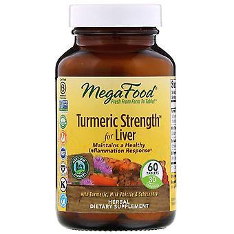 MegaFood, Turmeric Strength for Liver, 60 Tablets