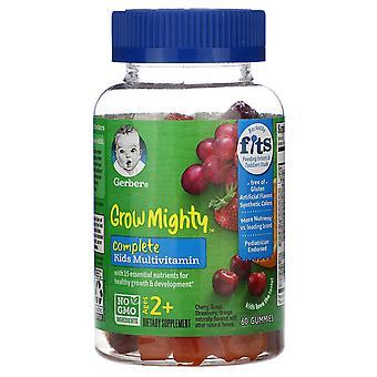 Gerber, Grow Mighty, Complete Kids Multivitamin, Ages 2+,  60 Gummies
