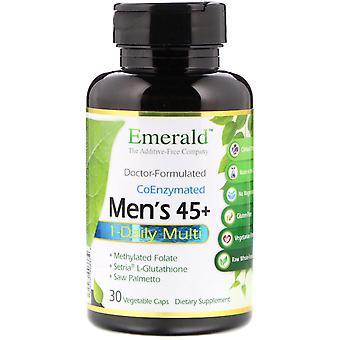 Emerald Laboratories, Men's 45+ 1-Daily Multi, 30 Vegetable Caps