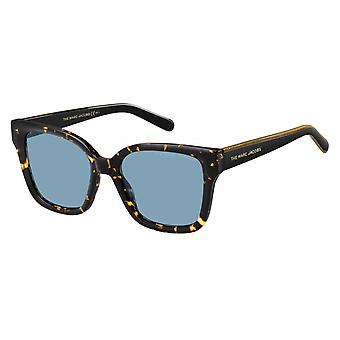 Sunglasses Women rectangular black/gold/blue