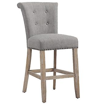 "Lachlan 26"" Counter Stool - Grey/Vintage Oak Leg"