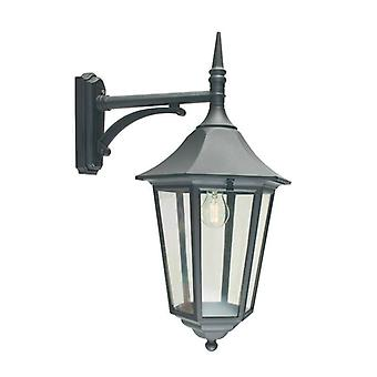 1 Light Outdoor Wall Lantern Light Black IP54, E27