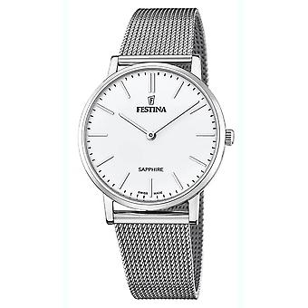 Festina swiss made watch for Analog Quartz Men with stainless steel bracelet F20014/1