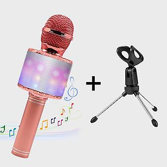 Led Lights Wireless Professional Bluetooth Microphone Studio Player, Singing