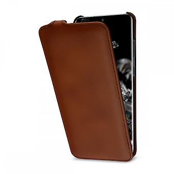 Case For Samsung Galaxy S20 Ultra Ultraslim Brown In True Leather