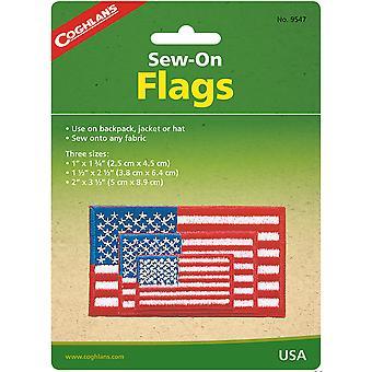 Coghlan's Coser-On Flags, EE.UU., coser a cualquier tela, mochila, tienda, chaqueta, sombrero