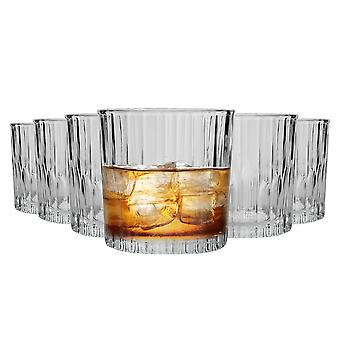 Duralex Manhattan Vintage Whisky Glasses - 310ml Old Fashioned Rocks Tumblers - Pack de 6