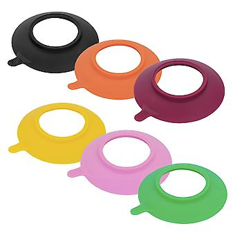 Tiny Dining Children's Bamboo Stay Put Bowl Silicone Suction Cups - Pink - Set of 6