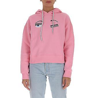 Chiara Ferragni Cff079pnk Femmes-apos;s Pink Cotton Sweatshirt