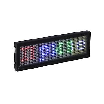 Bluetooth Programmeerbare Rgb Led Name Badge Oplaadbare Mini Scrolling Led