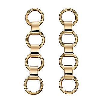 Elements Gold 9ct Bar Circle Link Yellow Gold Earrings GE2340