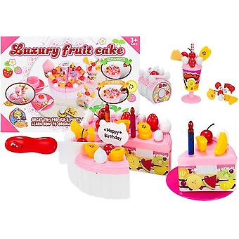 Toy cake - children's kitchen accessory - cake pieces with Velcro