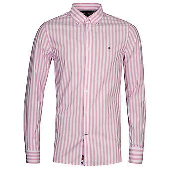 Tommy Hilfiger Pink Houndstooth Slim Fit Camisa
