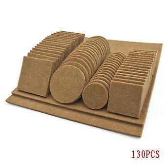80/130pcs Furniture Chair Table Leg Self-adhesive For Felt Wood Floor-protector Pads