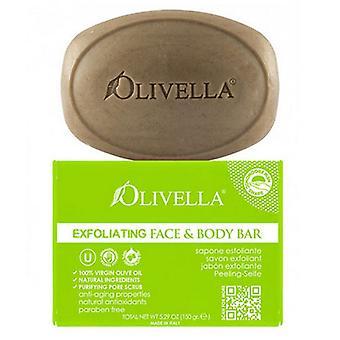 Olivella Exfoliating Face & Body Bar Soap, 5.29 Oz