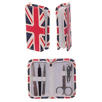 Fun Manicure Set in Union Flag Holder