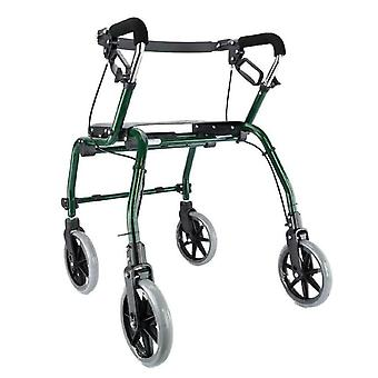 Dyna Walker 4 Wheel Mobility Walker Aid with Seat, Backrest, Brakes and Basket