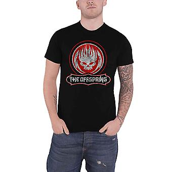 The Offspring T Shirt Distressed Skull Band Logo new Official Mens Black