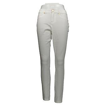 G.I.L.I. Got It Love It Women's Jeans W/ Gold Buttons White A306112