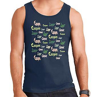 Casper The Friendly Ghost Logo Fonts Men's Vest