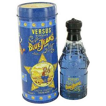 Синие джинсы от Versace Eau De Toilette Spray (новая упаковка) 2.5 Oz (мужчины) V728-417516