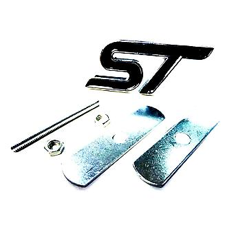 Chrome/Black Ford Metal ST Front Grill Bonnet Badge Emblem Grill Badge Emblem For Focus ST Fiesta ST