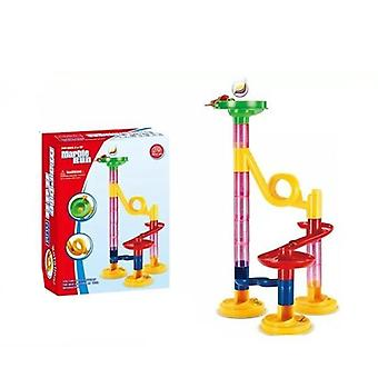 Construction Marble Race Run Track Building Blocks, Maze Ball Roll