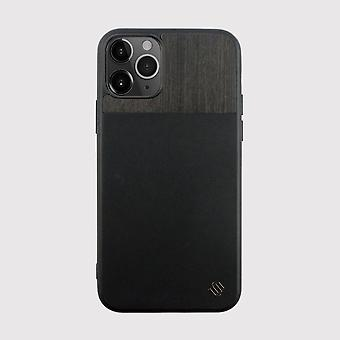 Eco Leather Genuine Wood Black iPhone 11 Pro Case