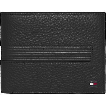 Tommy Hilfiger Men's Wallet 3 Volets Black Leather Bands