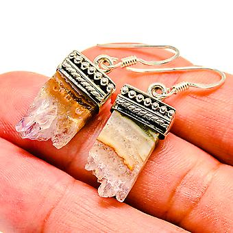 "Amethyst Stalactite 925 Sterling Silver Earrings 1 1/2""  - Handmade Boho Vintage Jewelry EARR408295"