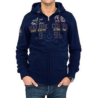 СТАТЕН пота Мужская куртка с капюшоном куртка с капюшоном флота теплой Zip Толстовка мужская случайный